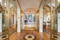 """This $19M Bel Air Villa Pioneers 'Russian Oligarch Chic' - That's Rather Hideous - Curbed National  """"Sequestered"""" up a gated driveway as if in judge-mandated isolation after a trial in style court, this """"exquisite European villa"""" clearly counts a surfeit of gold trim among its saving graces. In truth, it looks more like whoever designed the interior took more than a few pages from Get the Look: Russian Oligarchs."""