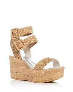 80e8a6bf13a2b3 Donald J Pliner Cyndi Cork Ankle Strap Platform Wedge Sandals Cork