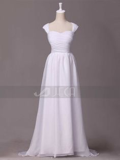 Simple Chiffon Bridal Dress For A Casual Or Beach by Jecadress, $219.95