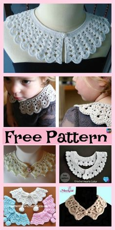 12 Pretty Crochet Simple Collar Free Patterns #freecrochetpatterns #collar