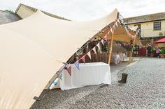 Maverick Marquees | Gallery - 13.5m X 10m Biege Stretch Tent @ Blessingbourne Estate,Fivemiletown,Co Fermangh.Approx 70 guests