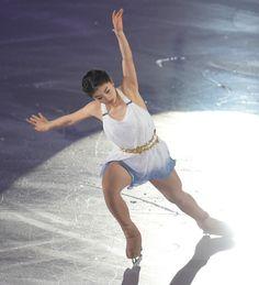 Yuka Nagai performing in the gala after the 2014 Japanese Nationals