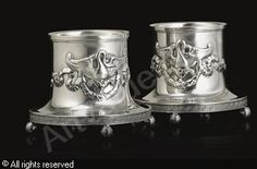 FABERGÉ Karl (Carl), 1846-1920 (Russia) Title : Stands, (2) Date : 1908/1917   Category : Silver Medium : : A pair: Silver, weight 15.7 oz. (488 gr.)