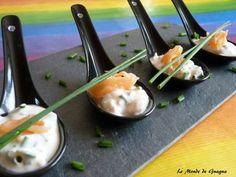 Cuillères apéritives au saumon et citron vert