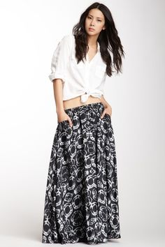 Boheme Silk Woven Drawstring Skirt by Da-Nang on @HauteLook