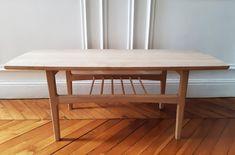 La table d'Yves, sans le vernis Dining Bench, Furniture, Home Decor, Polish, Homemade Home Decor, Table Bench, Home Furnishings, Decoration Home, Arredamento