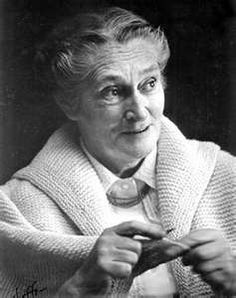 Elizabeth Zimmermann the knitting guru.