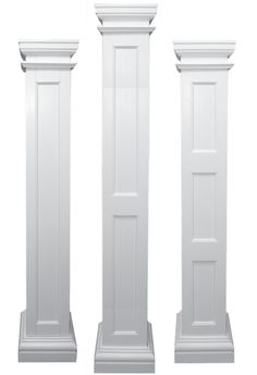 Mdf Pillars Square Half Fluted Recessed Panelled Column 8 Ft Paint Grade Indoor Spaces