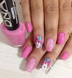 62 Ideas for hair color cool simple Gorgeous Nails, Love Nails, Fun Nails, Pretty Nails, Thanksgiving Nail Designs, Thanksgiving Nails, Flower Nail Designs, Cute Nail Designs, Cute Summer Nails