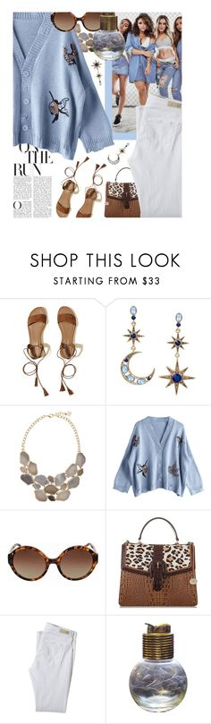 """""""Jailbreak - Preppy """"Girls Gone Wild"""" Pattern Mixing & White After Labor Day"""" by sharee64 ❤ liked on Polyvore featuring Hollister Co., Betsey Johnson, Michael Kors, AG Adriano Goldschmied and Evans"""