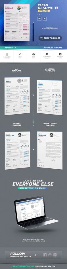 Resume   Cv - Word Indesign Template by TheResumeCreator on - amazing resumes