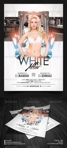 White Affair Flyer Template. Download here: http://graphicriver.net/item/white-affair-flyer-template/4722706 #white #party #flyertemplate