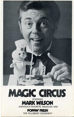 Mark Wilson postcard The Magic Circus, 1971, Pillsbury Poppin' Fresh Doughboy