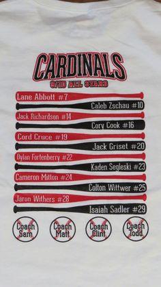 Baseball roster tee,
