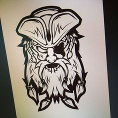 Working on a new #illustration. #pirate #vector #drawing #art #design