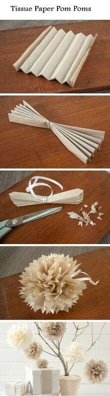 FLORS (pom pon) -  paper de seda