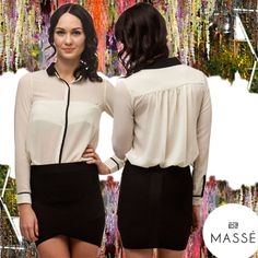 So gorgeous, our Strictly Business Shirt $69 and Classic Rise Skirt $74 www.masse.com.au Business Shirts, Leather Skirt, Store, Classic, Skirts, Fashion, Moda, Leather Skirts, Fashion Styles