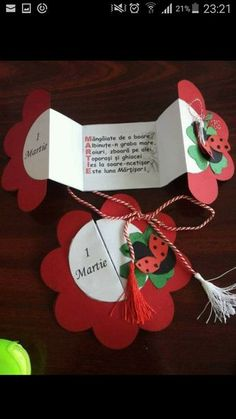 Floral paper gift tag...