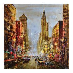 Un portrait neutre et en perspective de New York, et évoquant la vie plus grande que nature.