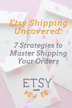 These are the most common Etsy shipping concerns, completely uncovered. Use these 7 strategies to keep costs low and profits high with your Etsy shop. Etsy Business, Craft Business, Business Tips, Online Business, Business Launch, Business Opportunities, Business Planning, Business Marketing, Etsy Seo