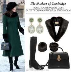 Duchess of Cambridge outfit on Day 1 of Royal Visit Sweden for the Stockholm walkabout