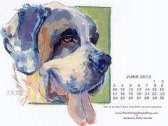 """June Desktop Calendar"" - Original Fine Art for Sale - © Kimberly Santini"