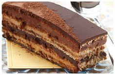 Here is a great recipe for Chocolate Ganache Layer Cake Chocolate Cream Cheese, Chocolate Ganache, Swiss Roll Tin, Cake Board, Cake Servings, Cake Flour, Kitchen Recipes, No Bake Desserts, High Tea