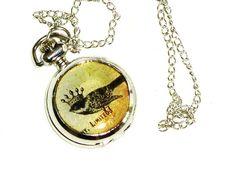 beautiful pocket watch pendant