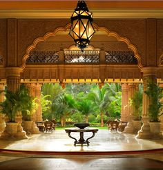 Leela Palace Bangalore, this would be a beautiful place for a wedding!