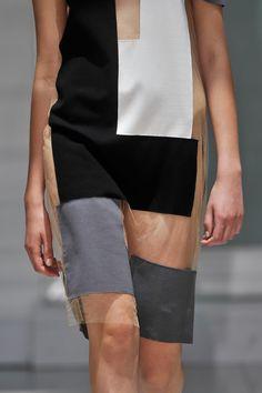 Sheer Dress with colour block panels; fashion details // Gloria Coelho Fall 2013