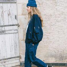 WEBSTA @ peppinopeppinomagazine - @storymfg so cool!!!!! #lookbook #fall16 #outfitoftheday #outfitinspiration #bomberjacket #denimjeans #denimlovers #denimaddicted #jeanslovers #styleblog #styleblogger #womenstyle #womenswear #denimlife #beanie #coolstyle #madeinuk #loveit #indigo #cool #denimhead #inspirational #niceshot