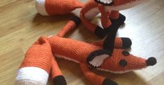 """The finished Fox is about 23"""" from nose to tail. My gauge was approx. 5 sts/inch and 3 rows/inch and I chose to stuff the body and tail ..."""