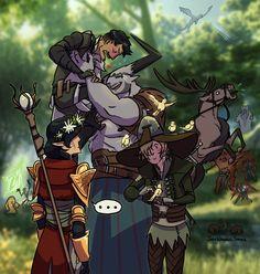 Adventuring with companions like... Dragon Age. Dragon Age Inquisition. Dragon Age Fan Art. Iron Bull. Dorian. Cole.