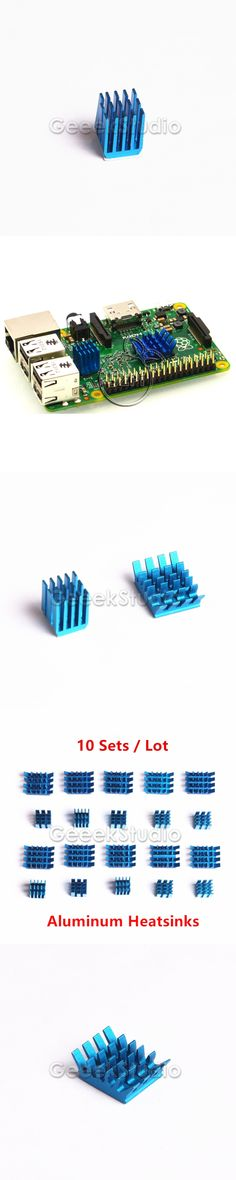 10 Sets! Raspberry Pi Heatsinks Cooler Aluminum With Adhesive Heat Sink Set Kit For Cooling Raspberry Pi 3/2 Model B & B+