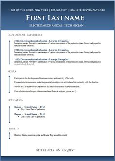 7 Free Resume Templates Microsoft word Template and Resume builder
