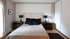 Ideias de decoração de quarto de casal pequeno claro