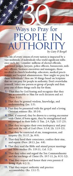 30 Ways to Pray for People in Authority 50-pack