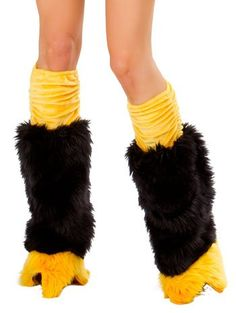 Sexy Furry Leg Warmers in different colors and lengths, Fur Legwarmers with LED light, Animal Print Leg Warmers and Costume Legwamers, Club Wear and Dancers Leg warmers Penguin Halloween Costume, Halloween Costumes 2014, Halloween Outfits, Penguin Love, Edm Outfits, Animal Costumes, Costume Accessories, Black N Yellow, Leg Warmers
