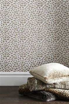 Buy Snow Leopard Wallpaper from the Next UK online shop
