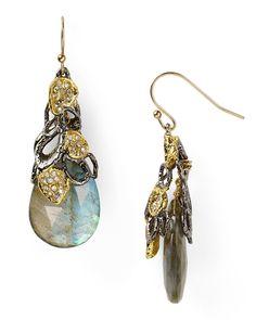 'siyabona' midnight gunmetal petal-cap earrings alexis bittar f.w2012 bloomingdale's