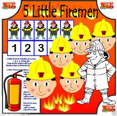 FIREMAN NUMBER RHYME PEOPLE WHO HELP US EYFS SEN CHILDMINDER TEACHING RESOURCES Eyfs Activities, Creative Activities, Kindergarten Activities, Early Years Topics, Teaching Subtraction, Number Song, People Who Help Us, Community Helpers Preschool, Great Fire Of London