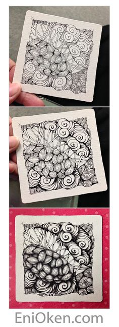 Learn how to create great Zentangle®️ pictures with Eni Oken CZT • enioken.com