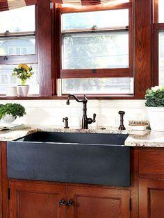 Rustic kitchen sink farmhouse style ideas (56)