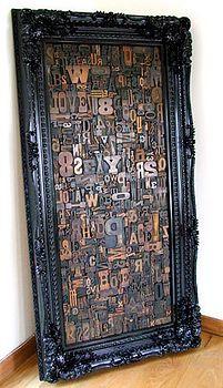 Memory blocks: vintage letterpress montage by Home & Glory. Wooden Blocks, Wooden Letters, Bedford Street, Block Wall, Vintage Type, Block Lettering, Letterpress Printing, Box Frames, Types Of Wood