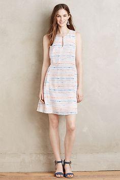 Watercolor Stripe Dress #anthropologie