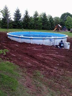 Above Ground Pool Decks On Hillside Http Lanewstalk Com