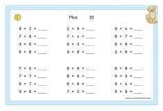 Mathe Fördermaterial Klasse 1 und 2 Periodic Table, Teaching, Math Equations, School, 2nd Grades, Mathematics, Kindergarten, First Grade, Primary School