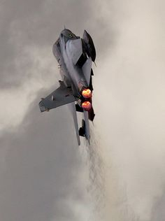 British Tornado in full afterburner climb.