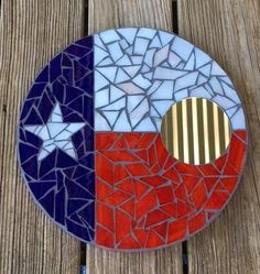 Stained Glass Mosaic Mirror/ Round/Wall by SunriseMosaicsbyBeth
