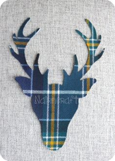 Stag Head  Deer Head  Buck Head  Applique  Patch   Green £3.00 plus shipping anywhere in the world